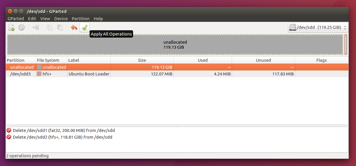 Installing Ubuntu on an external SSD drive on a Macbook